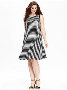 Striped Jersey Dress (Plus)