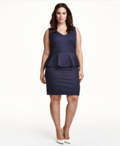 H&M+ Peplum Dress (Plus)